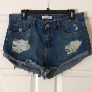 Pants - Distressed denim shorts Size: L